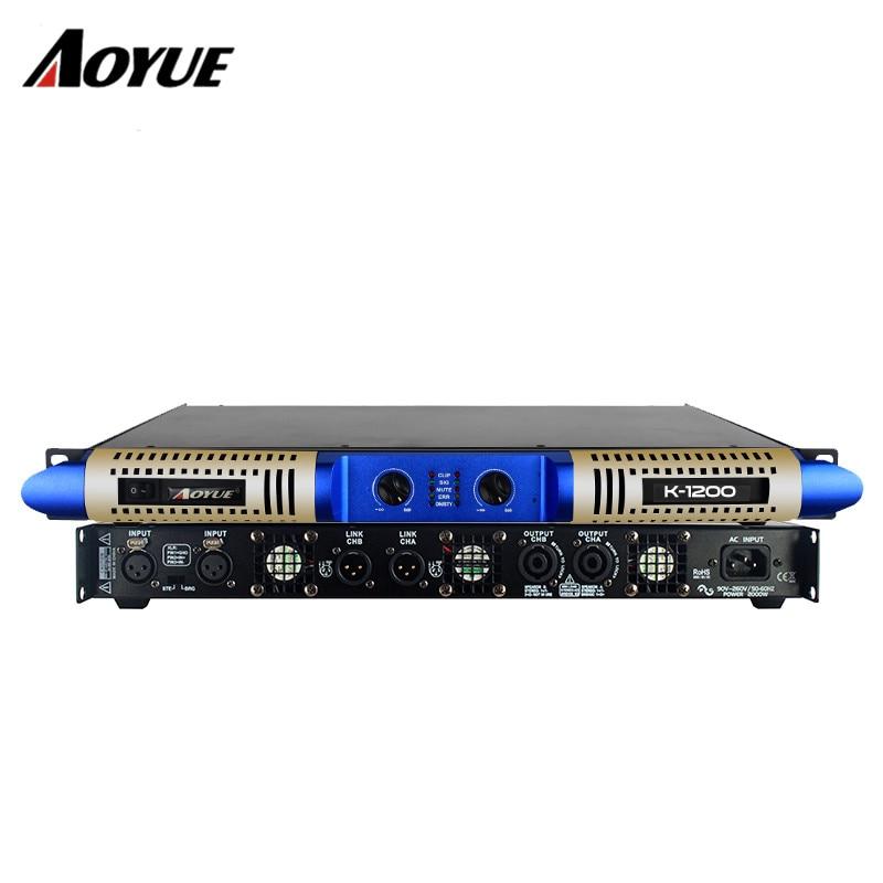US $314 92 |2019 Class D 2 channels X 1200W audio power amp K 1200 1U rack  mount stage digital amplifier-in Amplifier from Consumer Electronics on