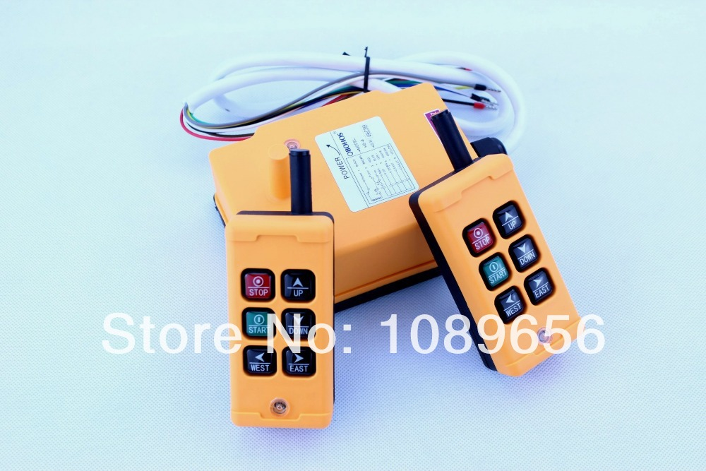 HS 6 6 keys Control industrial Remote Controller 2 transmitter 1 receiver DC 24V AC 110V