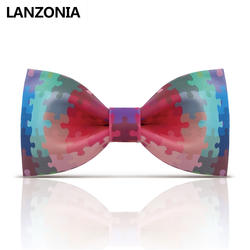 Lanzonia дизайнерский узорчатый мужской галстук-бабочка унисекс Новинка Уникальный принт галстук-бабочка женский модный Забавный галстук