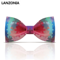 Lanzonia Designer Patterned Mens Bow Tie Unisex Novelty Unique Print Bowtie Women Trendy Funky Neckwear