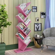 Modern creative tree bookshelf office floor bookshelf student children's bookshelf decoration display shelf small bookcase