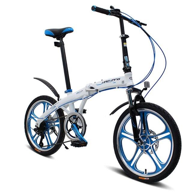 Bici Pieghevole In Alluminio.Us 607 2 20 Di Sconto 20 6 Velocita Veloce Bici Pieghevole Leggero Bici Da Strada Portatile Della Bicicletta Per Gli Uomini E Le Donne Telaio In
