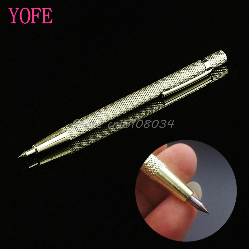 Tungsten Steel Tip Scriber Pen Marking Engraving Tools Metal Shell Lettering S08 Drop ship