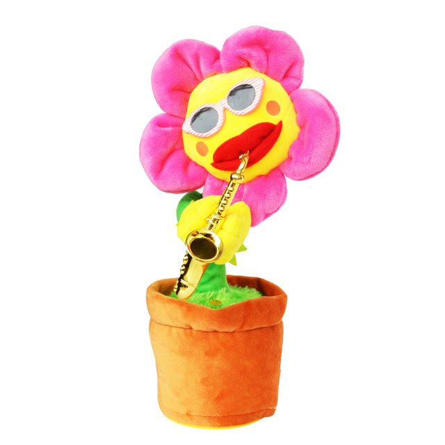 Dancing And Singing Sunflower with Saxophone