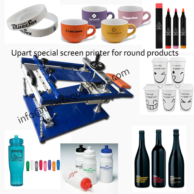 plastic printing machine for bottles/cups/mugs/pens with single color label