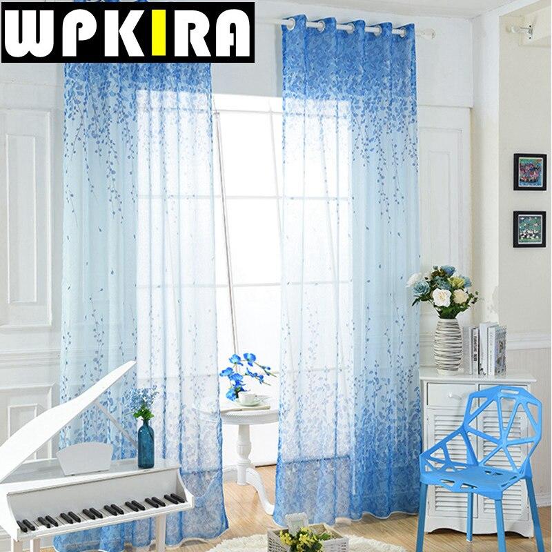 Online Kaufen Großhandel Vintage Sheer Vorhänge Aus China ... Vintage Wohnzimmer Blau