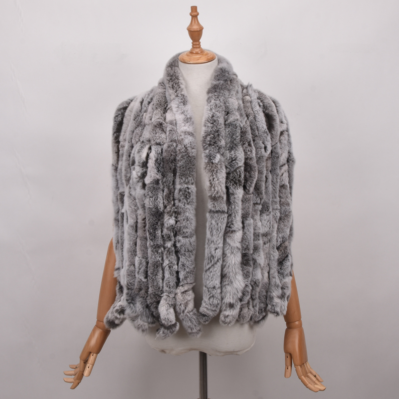 Women Geniune Real Rex Rabbit Fur Width Shawl Colorful Fur Long Scarf Wholesale Tassels Lovely Scarf Spring Winter Fur Stole
