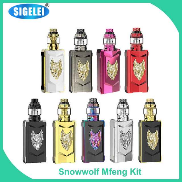 sigelei original snowwolf mfeng limited edition kit 200w box mod