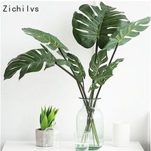 Zichilvs 10pcs L/M/S High Simulation Artificial Monstera Tropical Plant Leaf Home Party Office Store Decorations