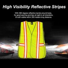 KKMOON светоотражающий жилет для безопасности дышащая ткань для дорожного строительства Бег Велоспорт оставайтесь видимыми
