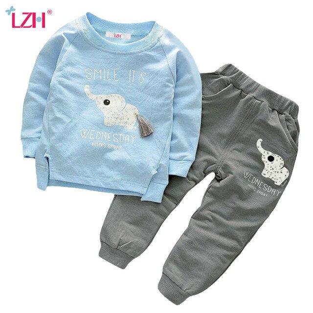 LZH Children Clothing 2017 Autumn Winter Boys Clothes Set T-shirt+Pants 2pcs Outfits Kids Sport Suit Toddler Boys Clothing Sets