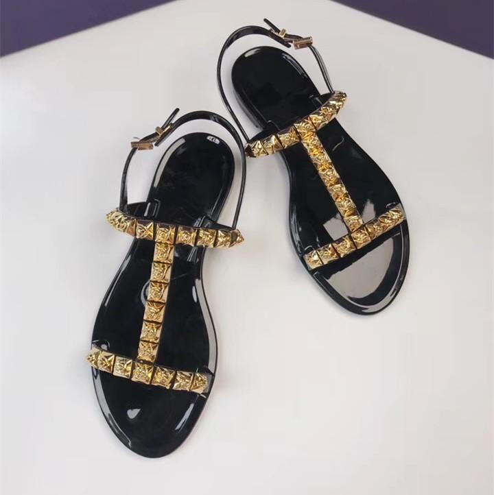 Модные летние босоножки; женские прозрачные сандалии со стразами; шикарная прозрачная обувь с Т образным ремешком; модная женская пляжная о... - 6