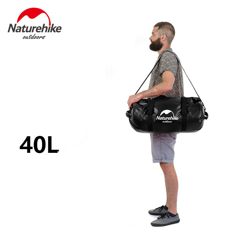 tb084 120l Naturehike Outdoor Watarproof Bag for Camping with Shoulder Strap Swimming Rafting Dry Bag 40/60/90/120L