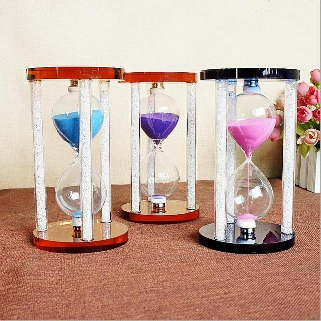 Crystal Home Decor Hourgl With Diamond Time Timer Decoration Birthday Gift Sand Sandgl Love