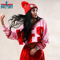 2014 Spring New Fashion Harem Hip Hop Dance wear loose top short Costumes female plus size sexy T-shirt