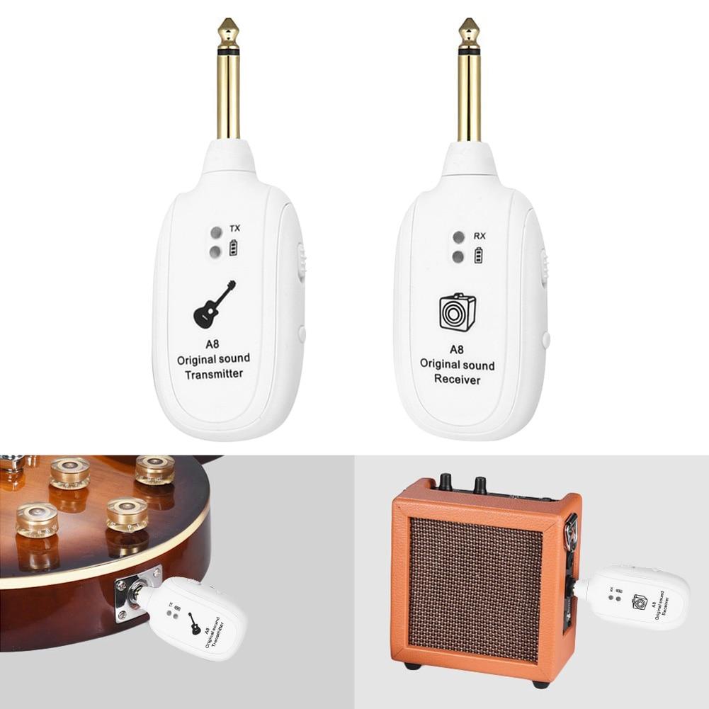 hot sale uhf wireless guitar transmitter receiver system rechargeable battery 50m transmission. Black Bedroom Furniture Sets. Home Design Ideas