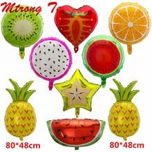 """10 sztuk 18 """"folia owocowa balon z helem brzoskwinia arbuz Kiwi truskawka pomarańczowy ananas Summer Party materiały dekoracyjne zabawki dla dzieci"""