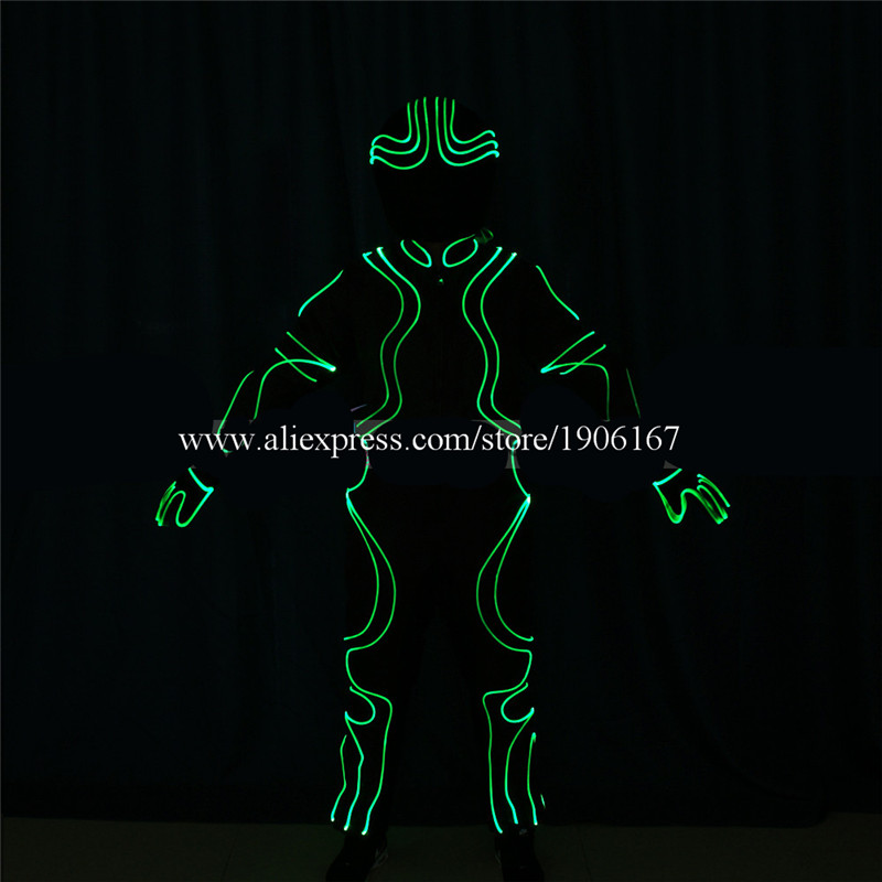 DMX512 Program full color led costumes colorful light robot suit dj catwalk cloth club bar performance show dancer wears05
