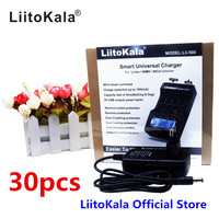 30 sztuk Hurtownie LiitoKala lii-500 LCD 18650 Ładowarka do akumulatorów 3.7 V/1.2 V 20700/21700/16340/14500/10440/18500 z ekranu