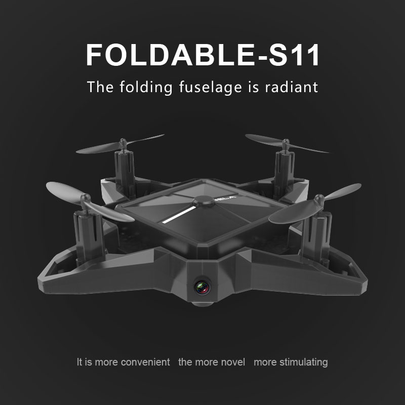YL S11 Mini Folding 2.4G Barometric Height APP Interactive Control UAV ...