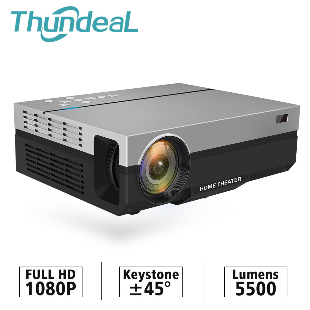 ThundeaL T26K Nativo 1080P 5500 Lumens Projetor Full HD Vídeo LED LCD Home Cinema Theater HDMI VGA USB TV 3D T26L T26 Beamer