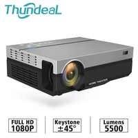 ThundeaL completo HD proyector T26K nativa de 1080P 5500 lúmenes de vídeo LCD LED de cine en casa cine HDMI VGA TV USB 3D T26L T26 Beamer