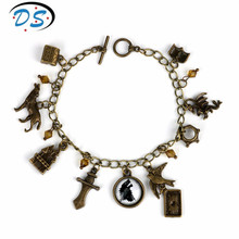 Game of Thrones Wolf Head Bracelets Vintage Accessories Link Chain Bangle&bracelets for Women Girls Gift