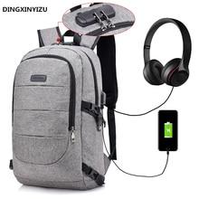 Rucsacuri pentru bărbați Rucsac de laptop anti-rupere Încărcător USB Călătorii Călătorii pentru mountainere Genți pentru femei Căști Jacks Muzică Pachete Bolsa
