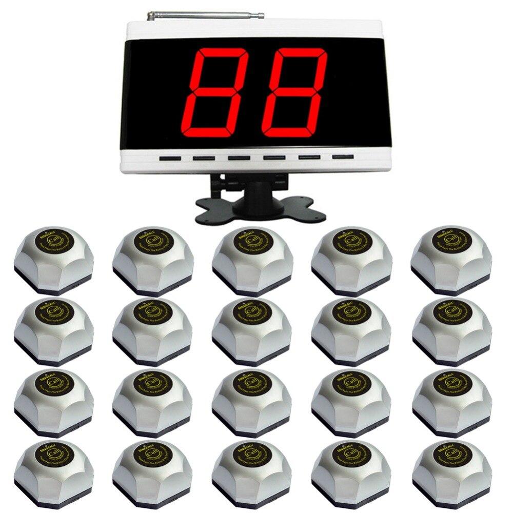 SINGCALL. Boutons de sonnerie de serveur sans fil pour 20 tables dans un Restaurant de plage, un Bar ou un café ou des salles à manger.