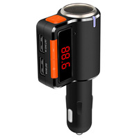 FM Transmitter 6 In 1 Lighter Expansion Wireless Bluetooth AUX FM Modulator Car Kit MP3 Player