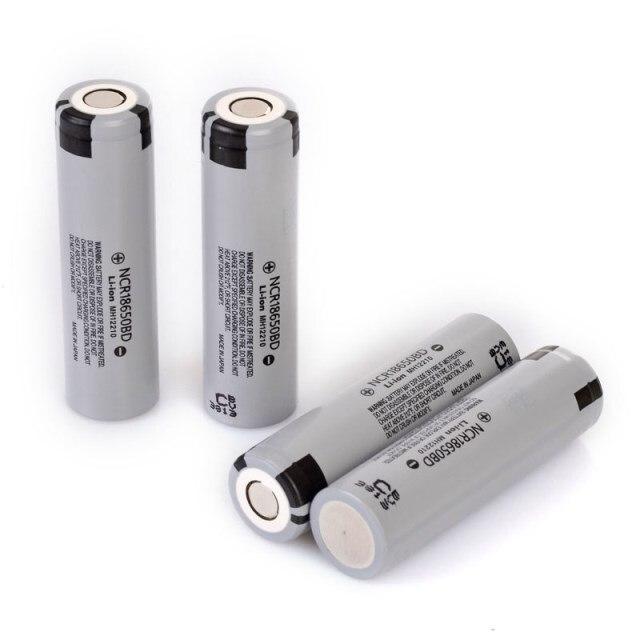 4 pcs/lot nouveau Original Panasonic 18650 NCR18650BD 3.7V 3200mAh 10A décharge batterie au lithium batteries de cigarettes électroniques