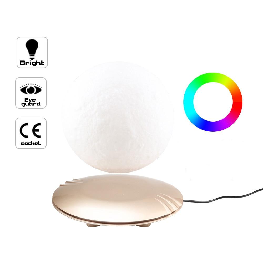 3D Afdrukken Maan Lamp Levitating 7 Kleuren Veranderende LED Nachtlampje voor Thuis Kerst Decoratie 45 - 5
