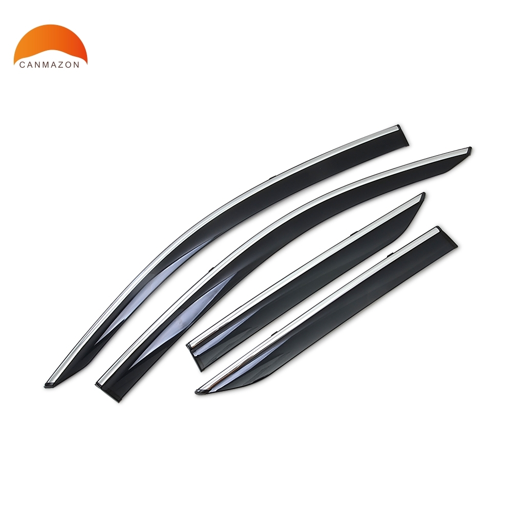 For Toyota CHR C-HR 2016 2017 2018 ABS Window Visor Awnings Shelters Cover Rain Gear Exterior body Decoration Accessories 4pcs set smoke sun rain visor vent window deflector shield guard shade for cadillac xt5 2016 2017