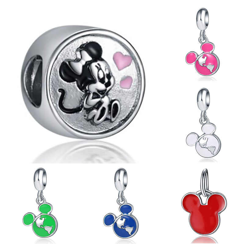 Fit pandora charms plata clips silver 925 original bracelet jewelry making valentine's day mary poppins bijoux slide beads