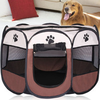 Portable Folding Pet Tent Dog House Puppy Kenneles Outdoor Bed Cage House Dog Cat Tent Fence