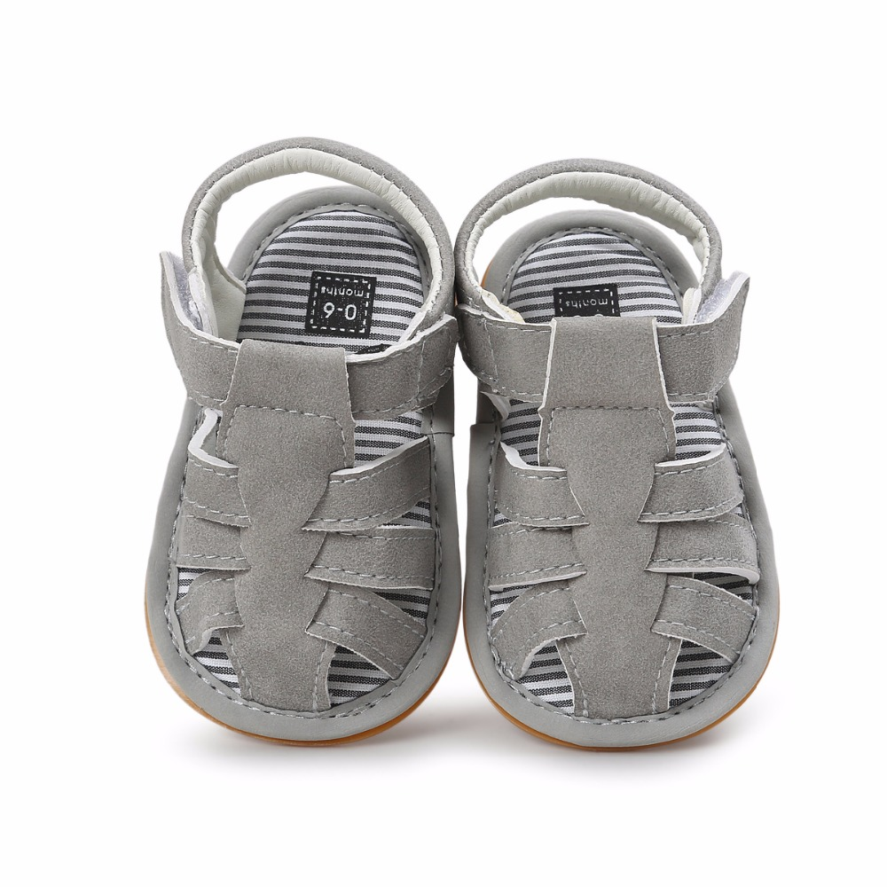 Gray Color Summer Autumn Newborn Baby Boy Sandals Clogs Shoes Casual Breathable Hollow For Kids Children Toddler