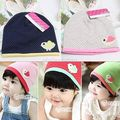 Spring/Fall Girls Kids Baby Soft Cotton Birds/Dots Candy Color Beanie Hats Caps