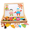 Wooden Toys Magnetic Puzzle Animal Puzzle Child Educational Toys Blackboard Toys Gift