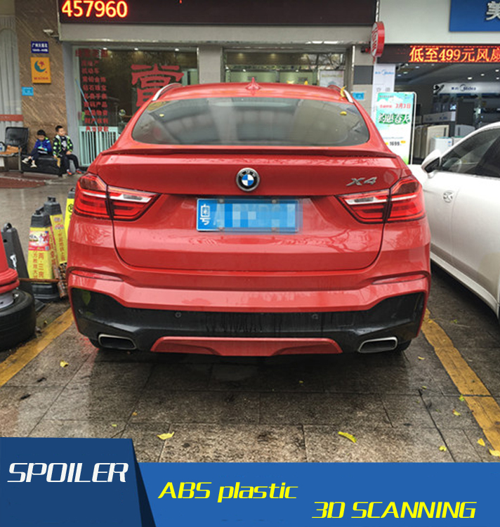 For BMW F24 X4 Spoiler High Quality ABS Material Car Rear Wing Primer Color Rear Spoiler For BMW X4 F26 Spoiler 2015-2016 diffuseur arrière carbone bmw x4 f26