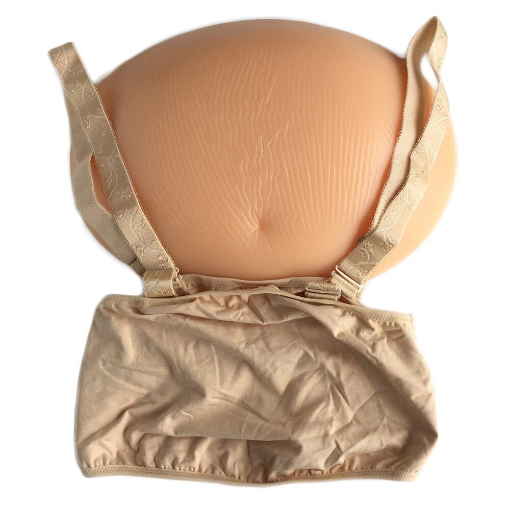 2500g silicona falsa vientre embarazada embarazo real invisible sujeción por cubierta de tela alta elasticidad grande 7 ~ 8 meses on AliExpress - 11.11_Double 11_Singles' Day 1