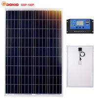 Dokio Brand 100W Polycrystalline Silicon Solar Panel China 18V 1012x660x30MM Size Panel Solar Top quality Solar Battery China