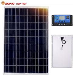 Dokio di Marca 100 W Policristallino Pannello Solare In Silicio Cina 18 V 1012x660x30 MM Formato del Pannello Solare Pannello Solare di alta qualità Batteria Solare Cina