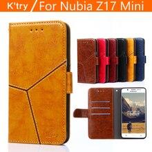 Pour ZTE Nubia Z17 Mini Cas K'try Hight Qaulity De Luxe Flip PU Housse En Cuir Pour ZTE Nubia Z17 Mini Livre Style couverture