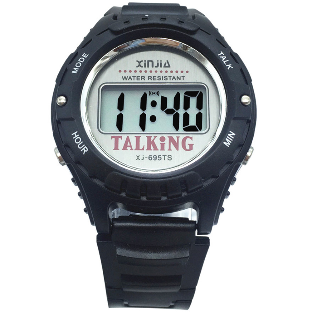 Russian Talking Watch Digital Electronic Sports Wrist Watches 695TN