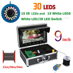 9 Inch 15M Fish Finder Underwater Fishing Camera 15pcs White  LEDs + 15pcs Infrared Lamp For Ice/Sea/River Fishi