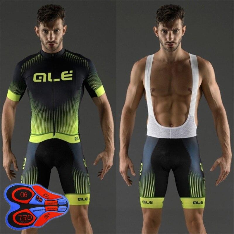Prix pour 2017 respirant Ropa Ciclismo VTT Vêtements De Vélo Maillot Usage De Bicyclette D'été ALE Vélo Vêtements Racing Vélo Jersey