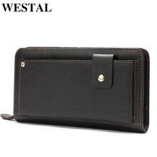 WESTAL clutch male/men's clutch bag men's genuine leather wa