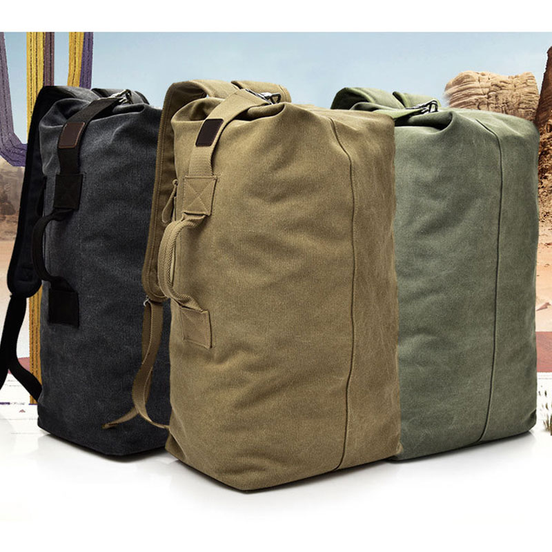 Large Capacity Backpack Man Mountaineering Male Outdoor Travel Luggage Bags Boys Canvas Bucket Shoulder Bags Men Backpacks S/L 2