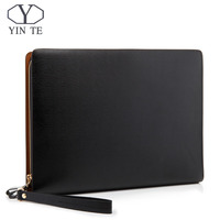 0397df44d5e64 YINTE Leather Folder Bag IPad Paper Folder Document Leather File Bag  Storage Luxury Business Design Holder