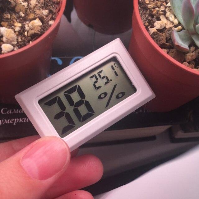 Mini wygodny cyfrowy termometr LCD czujnik miernik higrometrowy lodówka akwarium monitorowanie wyświetlacz detektor wilgotności